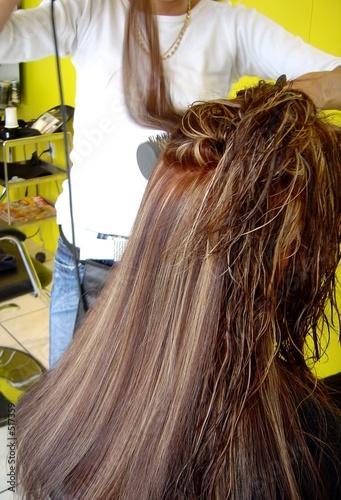 Canvas Print cheveux longs