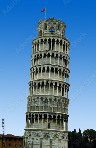 Wallpaper Mural leaning tower of pisa with blue sky