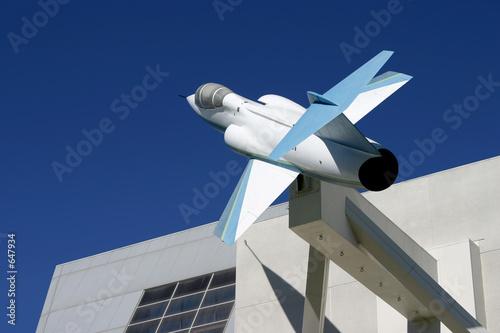 Wallpaper Mural jet building 2