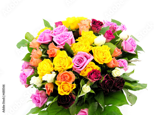 bouquet de roses Fototapete