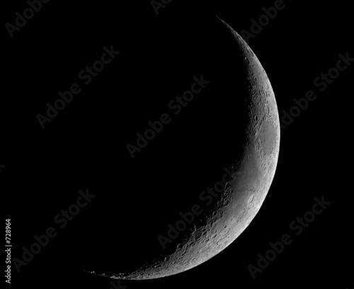 Fényképezés thin crescent moon