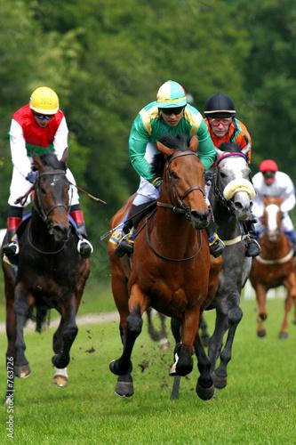 horse-racing Fototapet