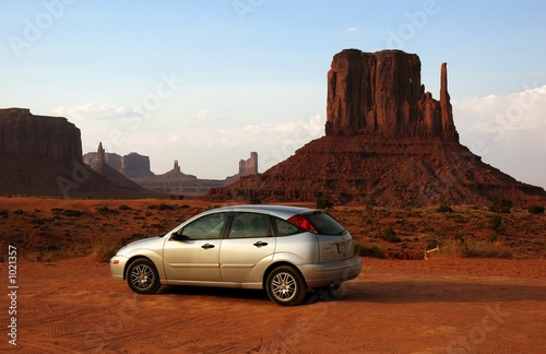 Canvas Print ford focus at monument valley