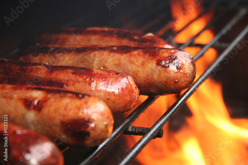 Obraz na płótnie brats on the grill