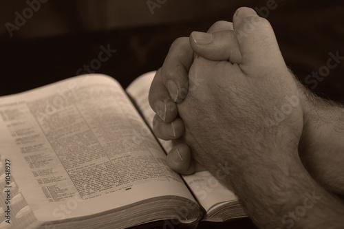 Obraz na plátně prayer hands - mains de prière