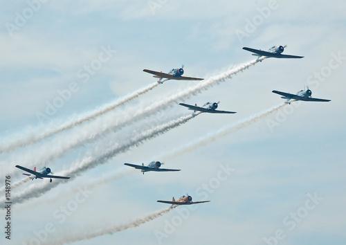 Fotografering warplane formation