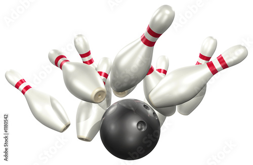 bowling 3d Fototapeta