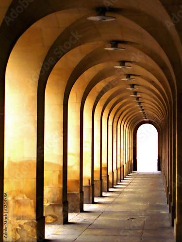 Photo stone archway passage