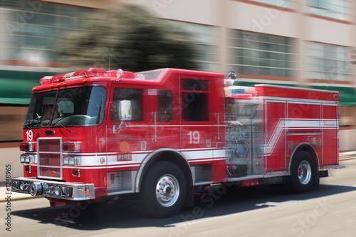 Obraz na plátne red fire truck