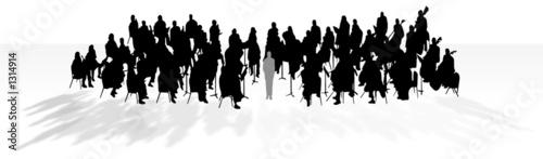 Fotografia orchestra in shadow