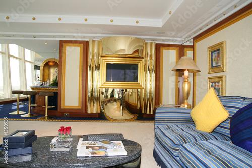 Obraz na płótnie living room at burj al arab hotel, dubai