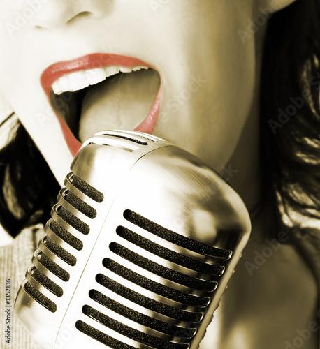 retro singer #1352186