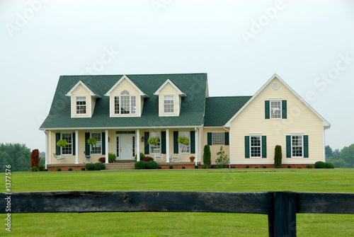 Photo farmhouse in the country
