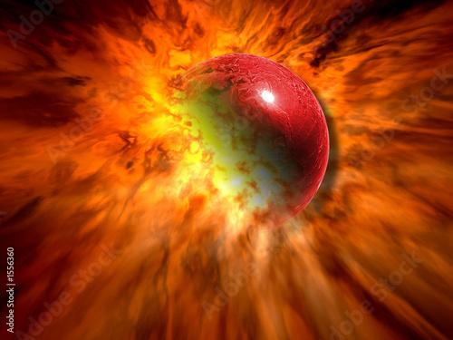 Canvastavla astronomy disaster