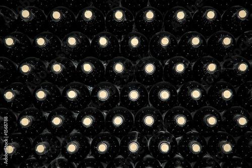 Obraz na plátně Pozadí lahví vína
