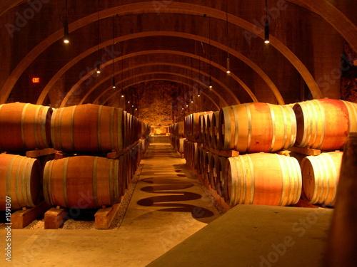 Canvas Print wine barrells