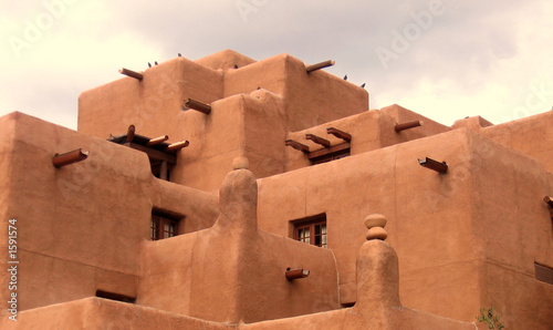 Fototapeta premium budynek adobe w santa fe