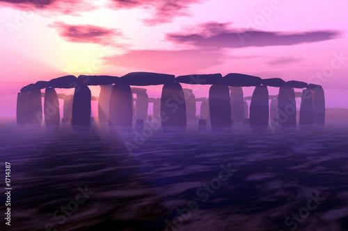 Obraz na plátně stonehenge sunset