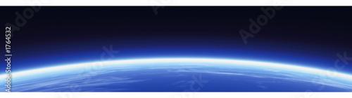 Fotografie, Tablou horizon and world banner