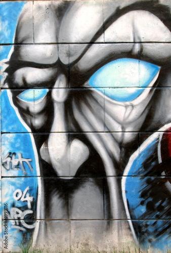Fototapeta premium głowa graffiti