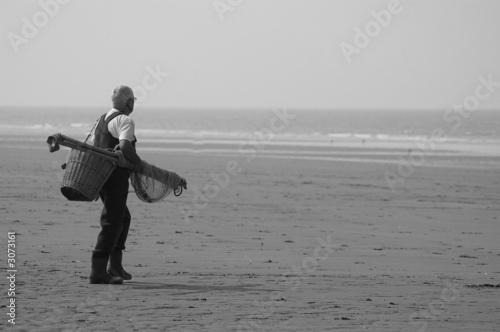 Canvas Print pêche a maree basse