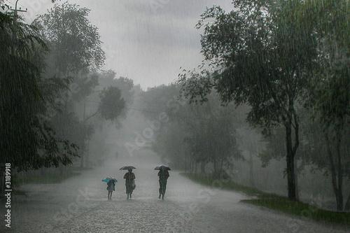 rainstorm Fototapeta