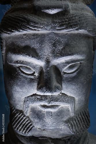 a screy picture of a terracotta warrior
