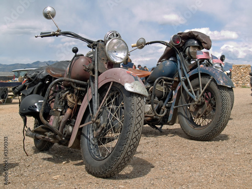 Canvas Print classic american motorcycles