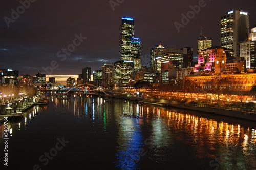 a melbourne city night