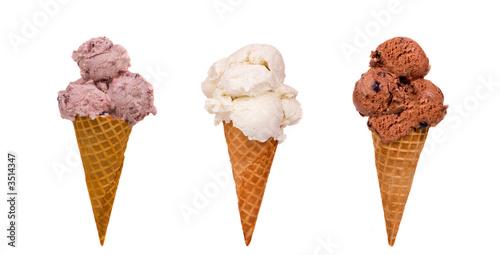 Tablou Canvas three ice cream cones