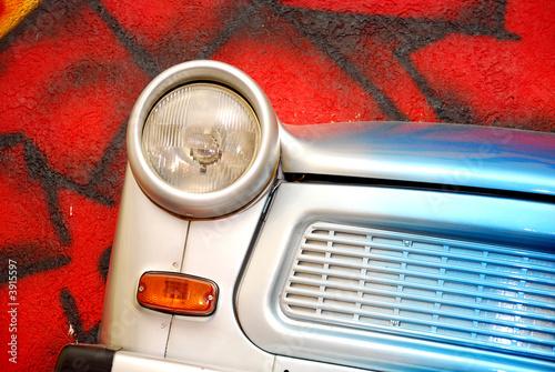 Canvas Print Trabant Scheinwerfer