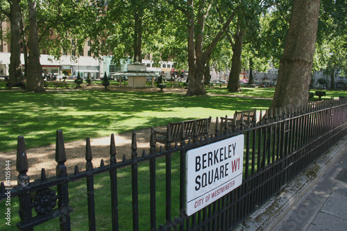 Berkeley Square with sign Fototapete