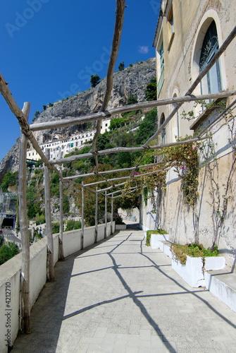 Tableau sur Toile Amalfi vicolo Annunziatella pergola