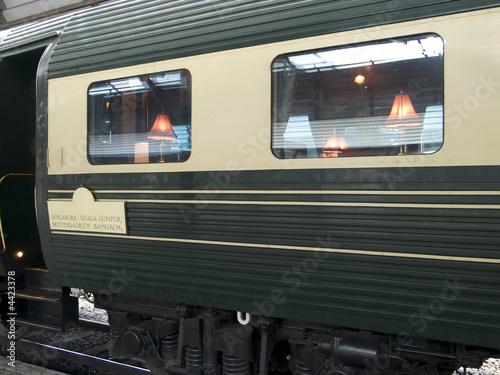 Fotografia Luxury dining railway car