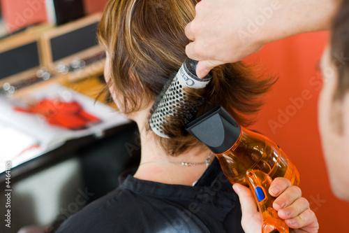 Canvas Print Coupe coiffeur femme2