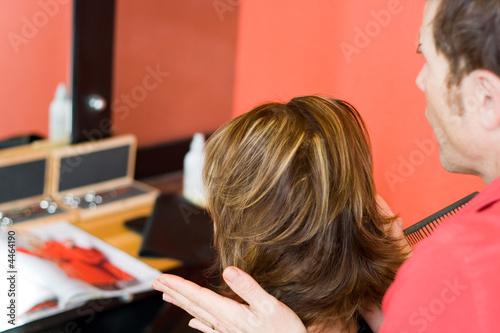 Coupe coiffeur femme1 Fototapete