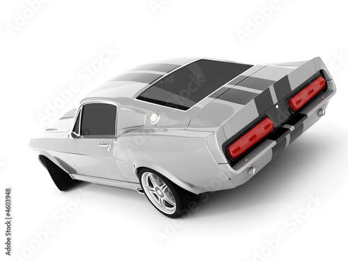Платно Silvery Classical Sports Car
