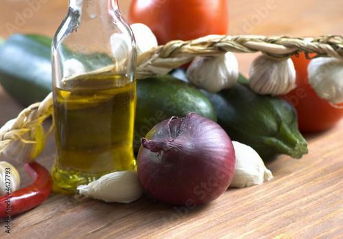 Obraz na plátně autumnal products for salad