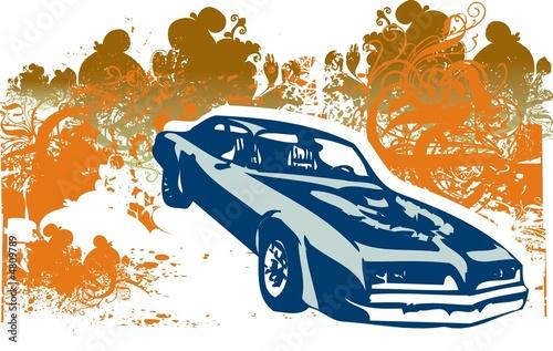 Fototapeta Firebird car illustration