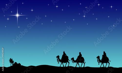 Fotografia, Obraz Three wisemans and the star of Bethlehem