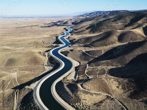 Fotografiet Aerial of aqueduct.