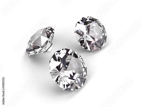 Three diamonds on white background #5403552