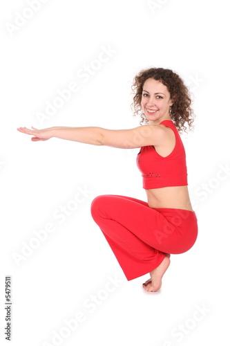 woman doing curtsey Fototapeta