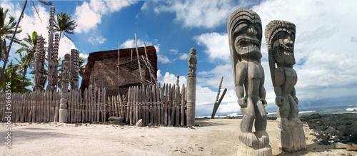 Fotografie, Obraz Tiki Gods on Hawaii (Kona side)