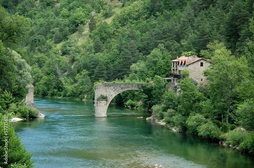 Canvas Print The Tarn gorges - Broken bridge