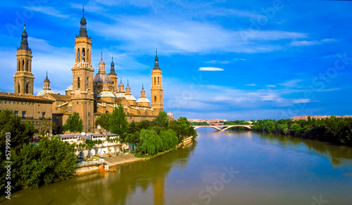 Pilar's cathedral and Ebro river