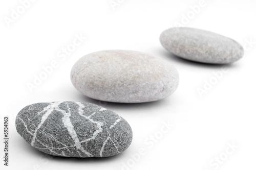 three pebbles Fototapeta