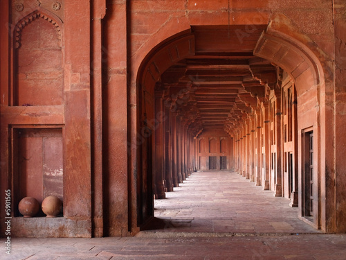 Photo Red Archways in Mosque