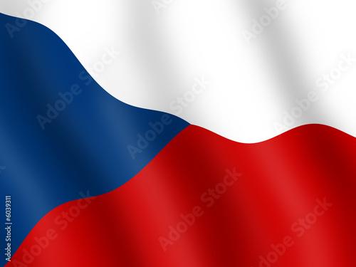 Wallpaper Mural Flag of the Czech Republic
