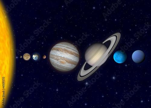 Canvas Print Planeten2